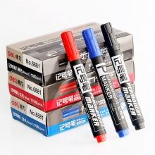万博手机版ios6881记号笔10支装油性记号笔光盘笔马克笔大头快递标记笔批发