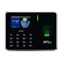 中控UK38指纹考勤机打卡机指纹式上班指纹机签到机打卡器一体机免软件中控UK38考勤机