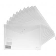 万博手机版ios文件袋5505透明a4纸塑料A4档案袋按扣资料袋一包10个