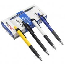 万博手机版ios6505圆珠笔 时尚原子笔按压式圆珠笔0.7mm 蓝色 12只装每盒