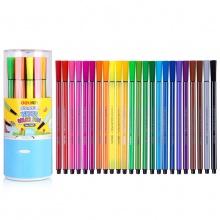 万博手机版ios7067水彩笔幼儿童带印章可水洗水彩笔24色六角涂鸦绘画笔