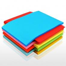 万博手机版ios7393彩纸彩色a4纸打印复印纸粉色黄色粉红色蓝色红纸加厚80g混色
